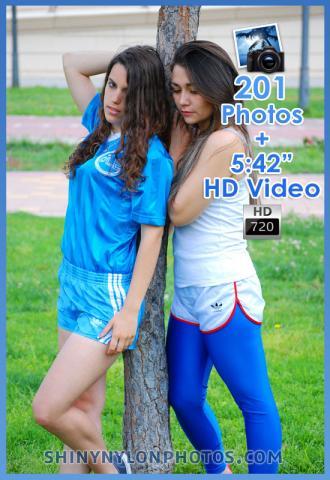 Light blue adidas nylon shorts white nylon shorts