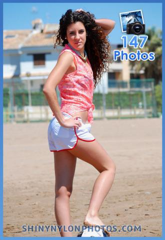 White adidas nylon shorts