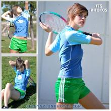 Green adidas shiny nylon shorts