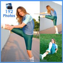 Green lycra/spandex leggings